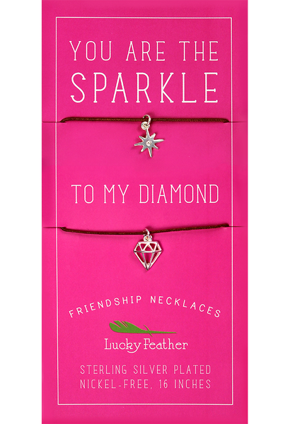 Friendship Necklace - Sparkle To My Diamond