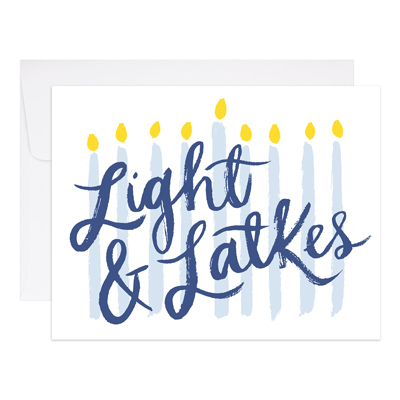 Light and Latkes Card