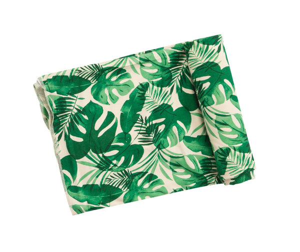 Monstera Swaddle Blanket