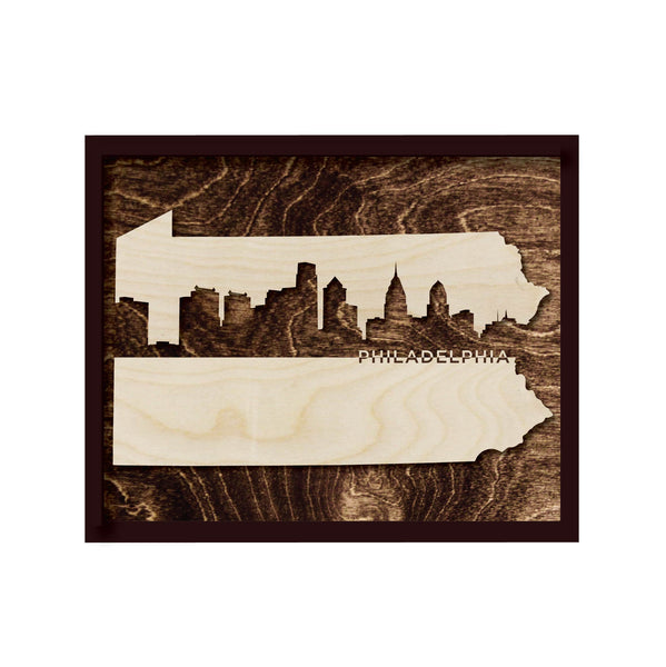 Philadelphia Framed Skyline Wall Art