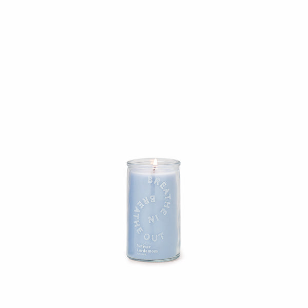 "Spark - ""Breathe In, Breathe Out"" 5oz. Vetiver Cardamom Candle"