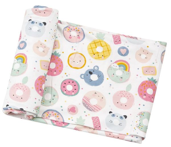 Donut Smiles Swaddle Blanket
