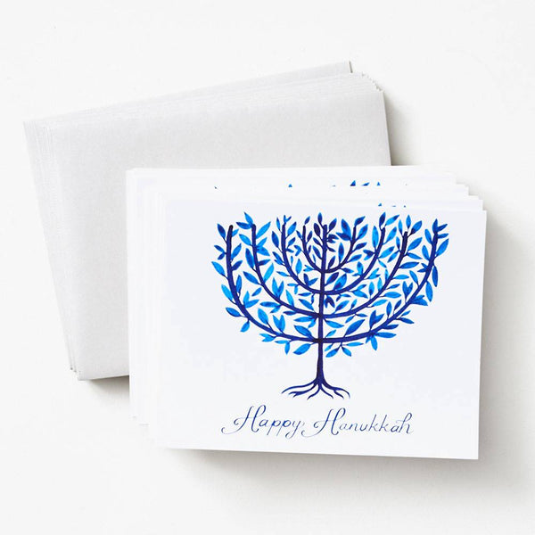 Watercolor Menorah Hanukkah Box Set