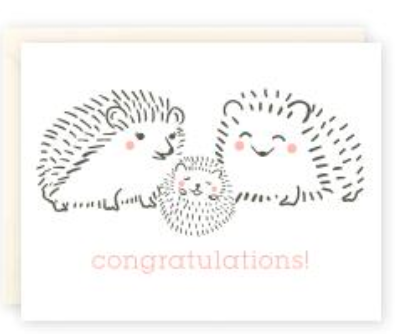 Hedgehog Congratulations!