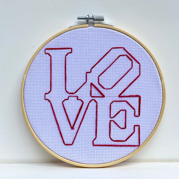Philadelphia LOVE Cross Stitch Embroidery Hoop