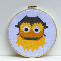 Gritty Cross Stitch Embroidery Hoop