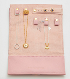 Blush Pink Jewelry Roll