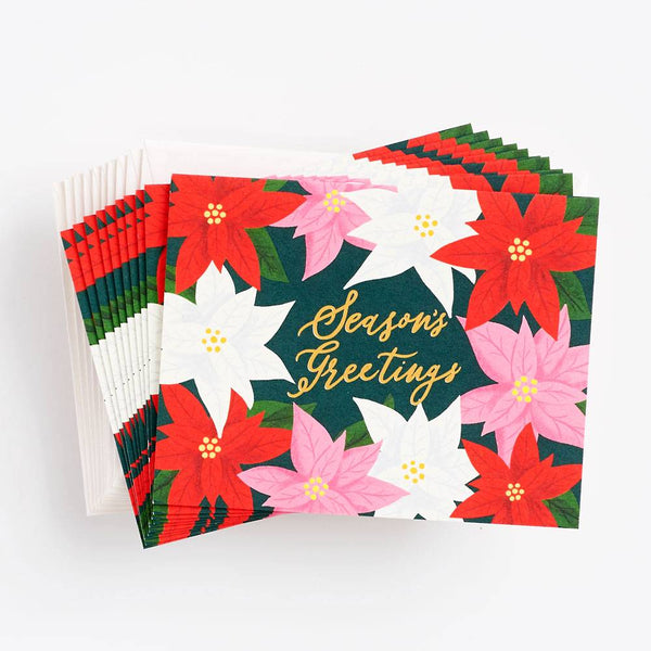 Poinsettia Season's Greetings Box Set
