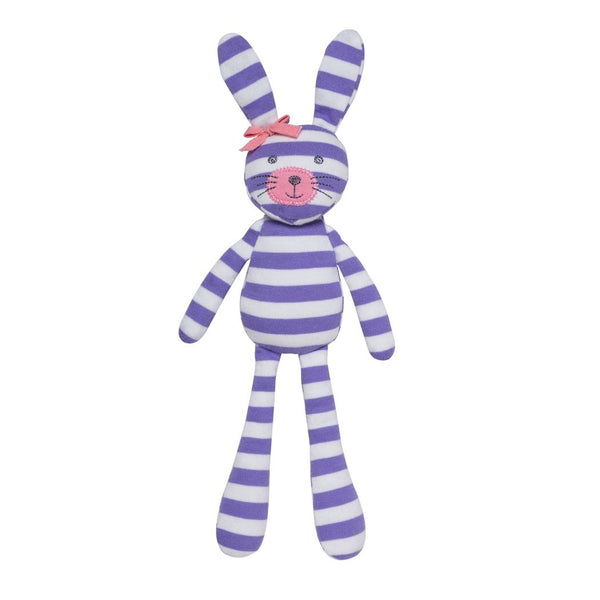 Organic Farm Bunny - Purple Stripe