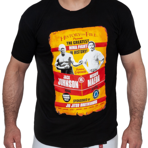 Jack Johnson vs. Mitsuyo Maeda T-Shirt | The Jiu Jitsu Brotherhood