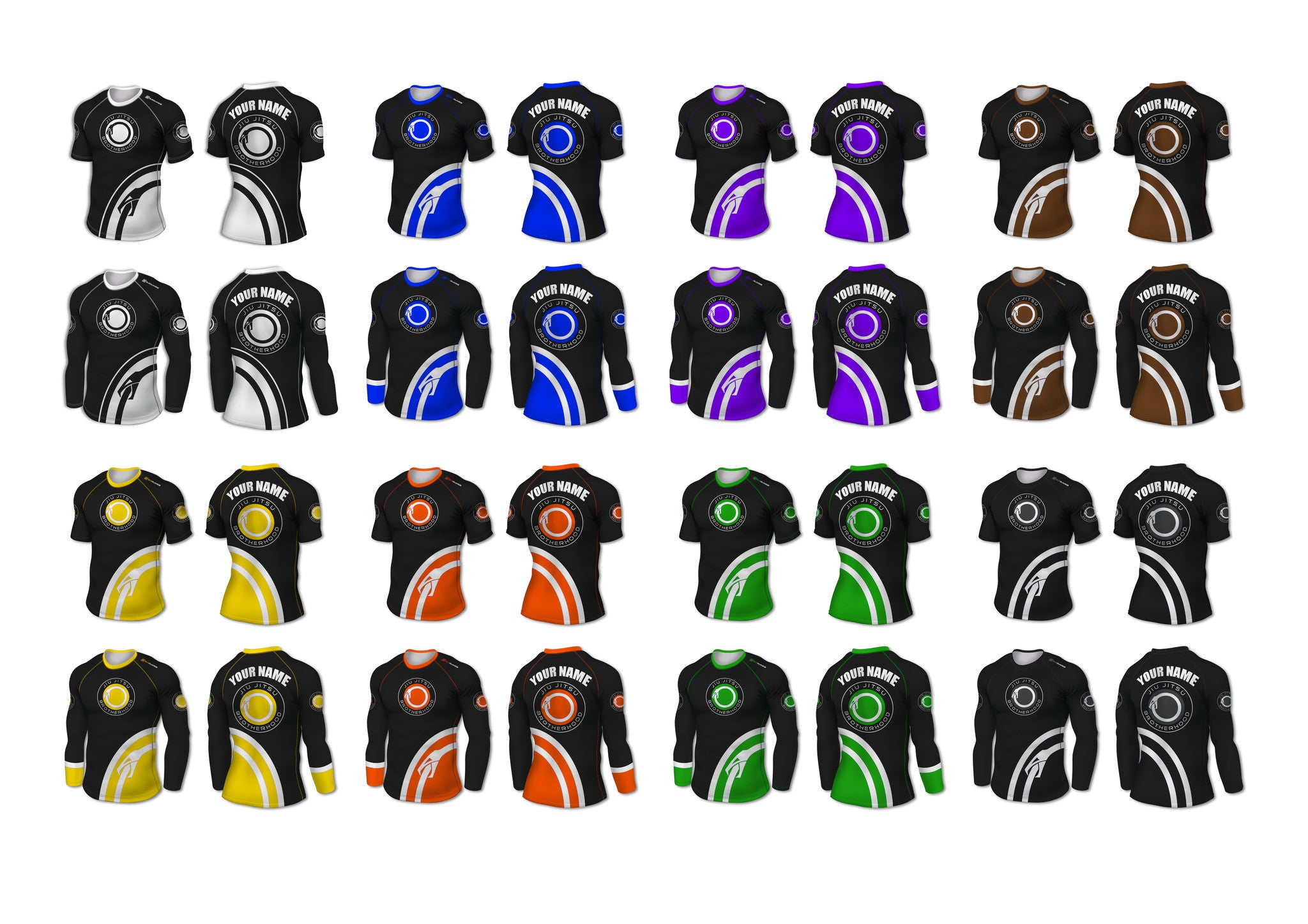 Custom Rashguard (IBJJF Colors) - The Jiu Jitsu Brotherhood  - 13