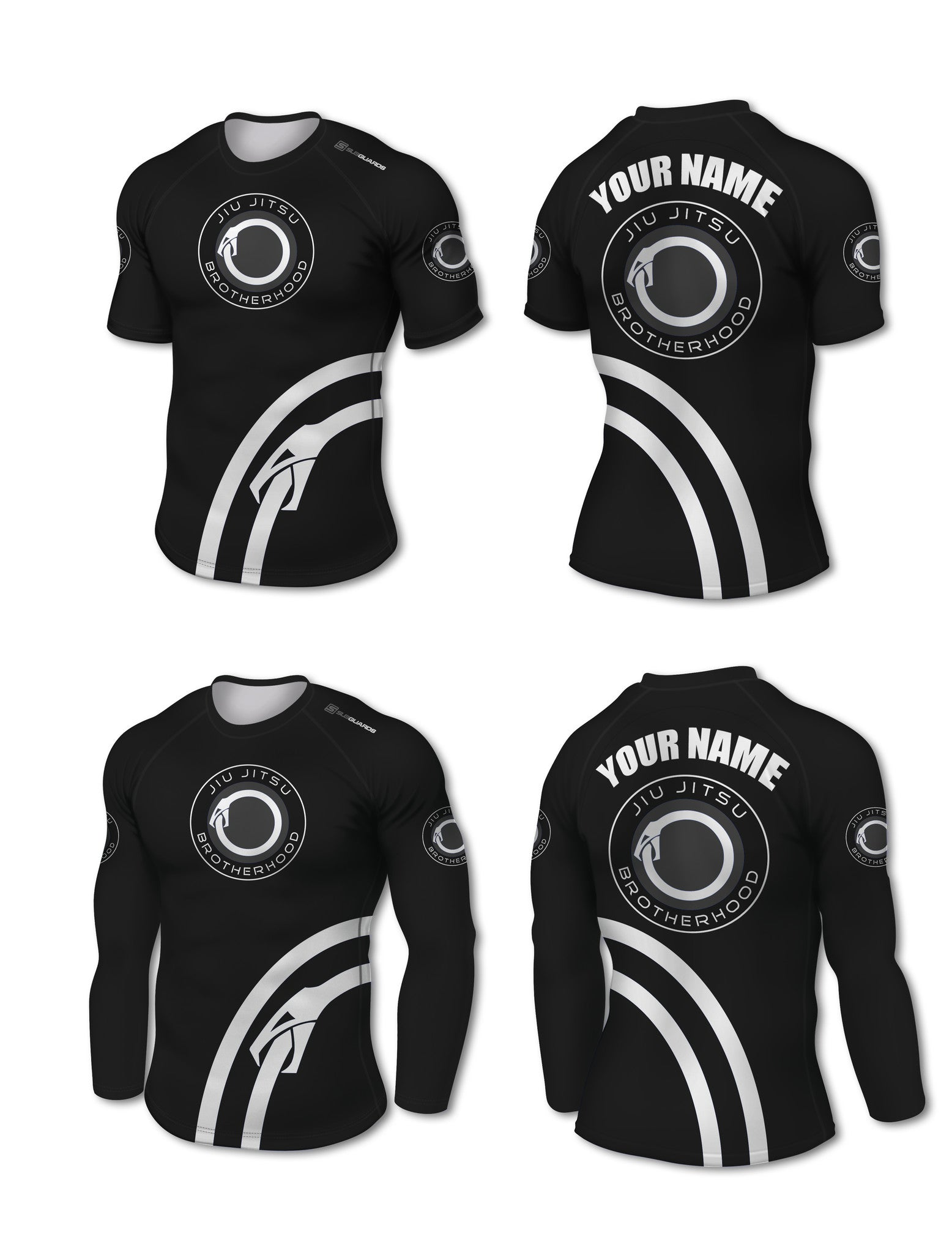 Custom Rashguard (IBJJF Colors) - The Jiu Jitsu Brotherhood  - 6