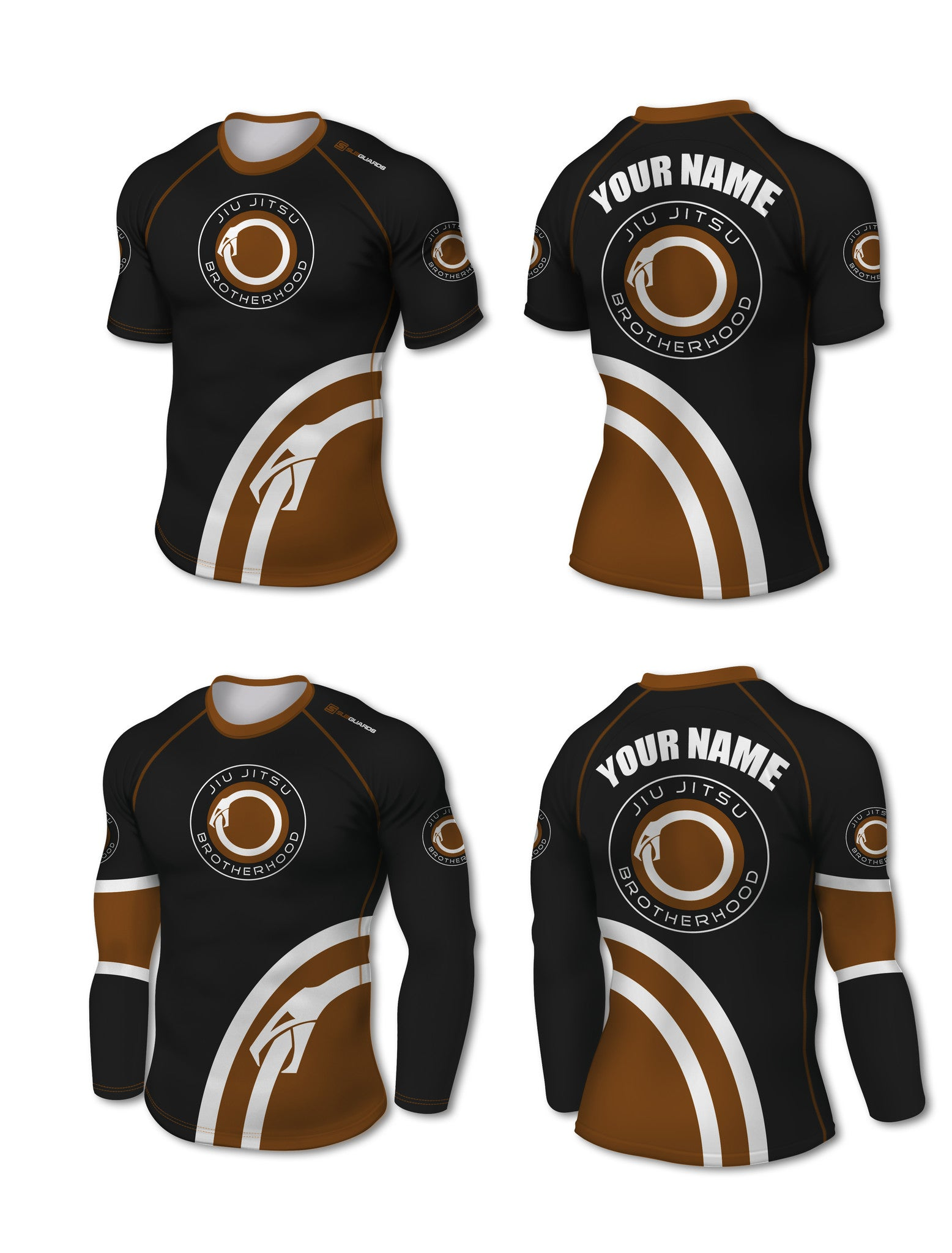 Custom Rashguard (IBJJF Colors) - The Jiu Jitsu Brotherhood  - 8