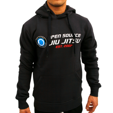 'Open Source Jiu Jitsu' Hooded Sweatshirt (Navy)