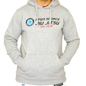 'Open Source Jiu Jitsu' Hooded Sweatshirt (Gray)
