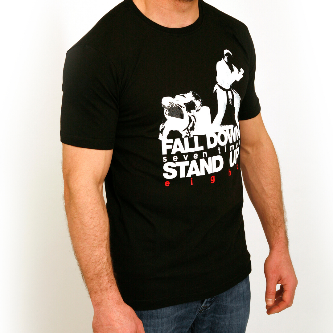 'Stand Up Eight' Jiu Jitsu Shirts (Black) | The Jiu Jitsu Brotherhood