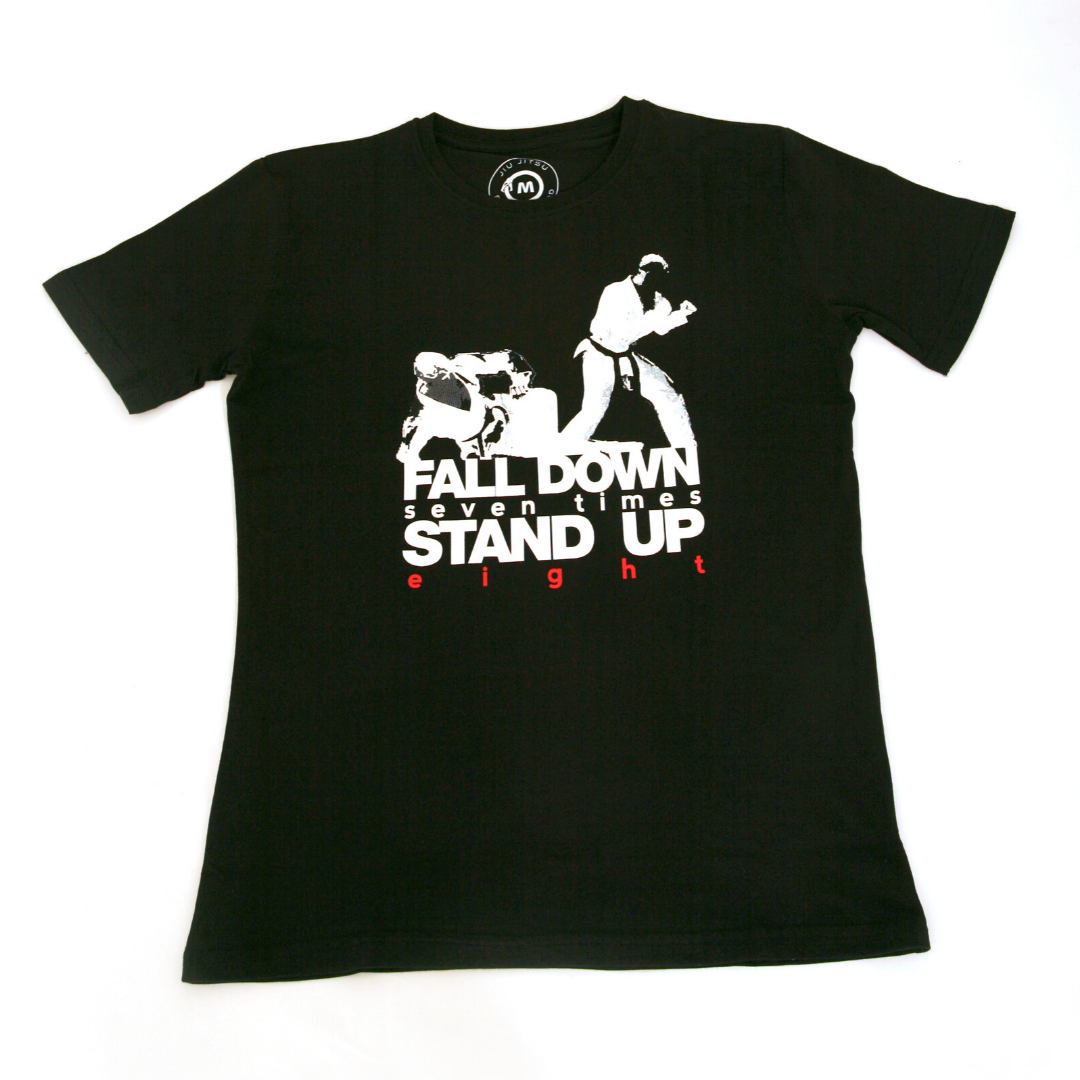 'Stand Up Eight' T-Shirt (Black)