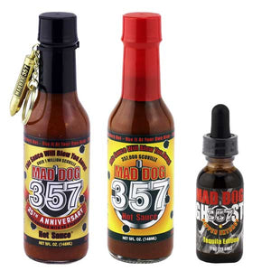 Hot Ones Special Gift Pack  with Bonus Free Bottle of Ghost Pepper Extract