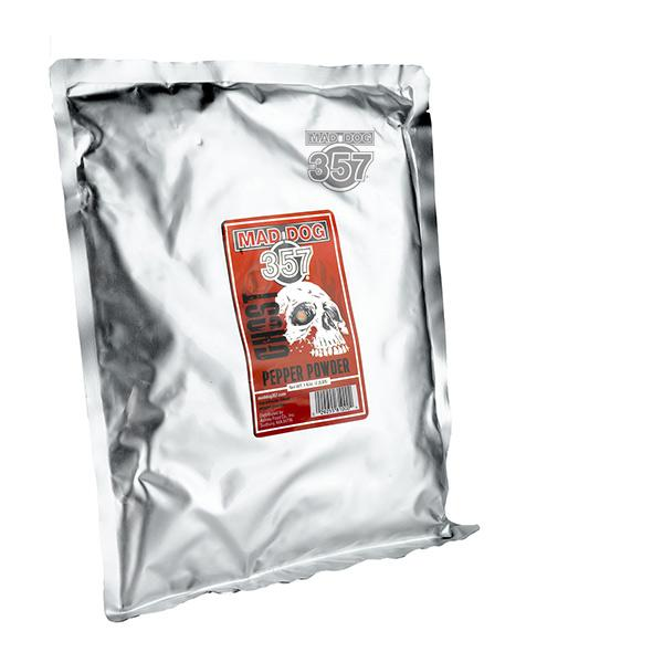 Mad Dog 357 Ghost Pepper Powder Oven Dried 1 Kilo Chili Powder maddog357.com