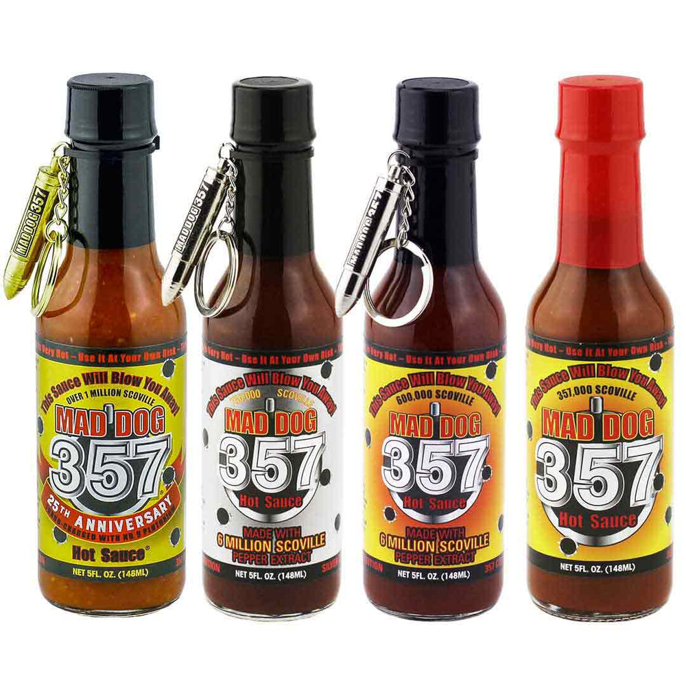 Mad Dog 357 Hot Sauce Collector's Gift Pack Hot Sauce maddog357.com
