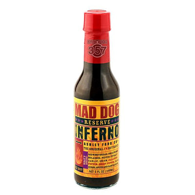 Mad Dog Inferno Reserve Edition, Ghost Pepper Hot Sauce 1-5oz.