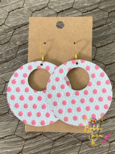 Load image into Gallery viewer, Pink Polka Dotted Heidi Hoops