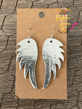 Load image into Gallery viewer, Angel Wings Leather Earrings