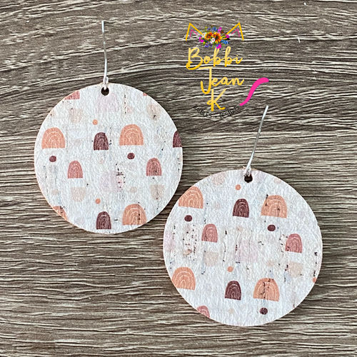 Over the Rainbow Circle Leather Earrings