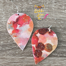 Load image into Gallery viewer, Infused Autumn Tones Glitter Polka Dotted Inverted Teardrops