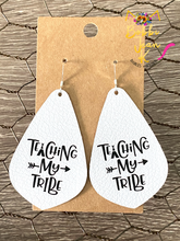 Load image into Gallery viewer, Teaching My Tribe Leather Earrings