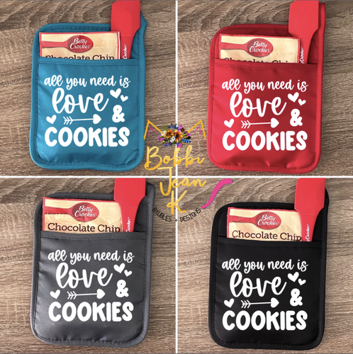 All You Need is Love & Cookies Pot Holder Gift Set