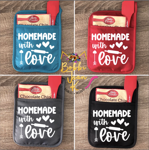 Homemade With Love Pot Holder Gift Set