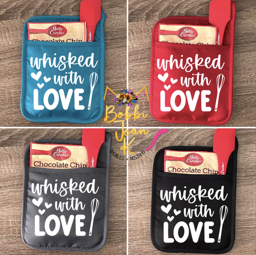 Whisked With Love Pot Holder Gift Set