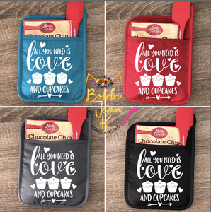 All You Need is Love & Cupcakes Pot Holder Gift Set