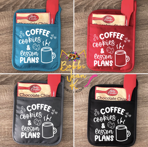 Coffee, Cookies, & Lesson Plans Pot Holder Gift Set