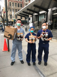 Custom delivery of 150+ Cups of Coffee to a NYC Hospital of your choice