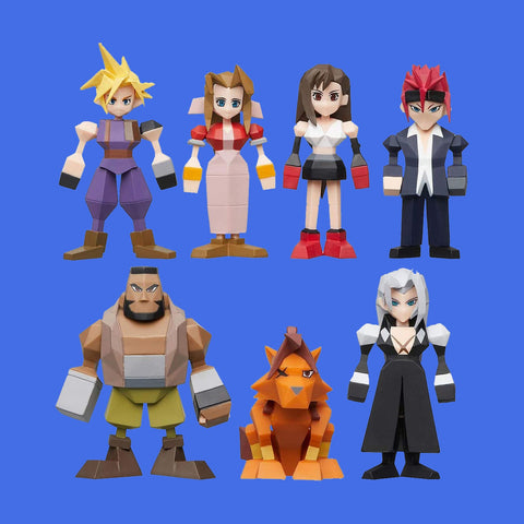 SQUARE ENIX x FINAL FANTASY VII - POLYGON MINIFIGURES (BLINDBOX)
