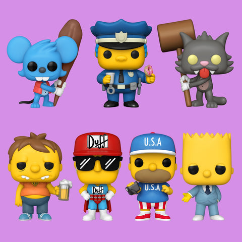 THE SIMPSONS x FUNKO POP! - 7 FIGUREN GÜNSTIGSTER IM SET!