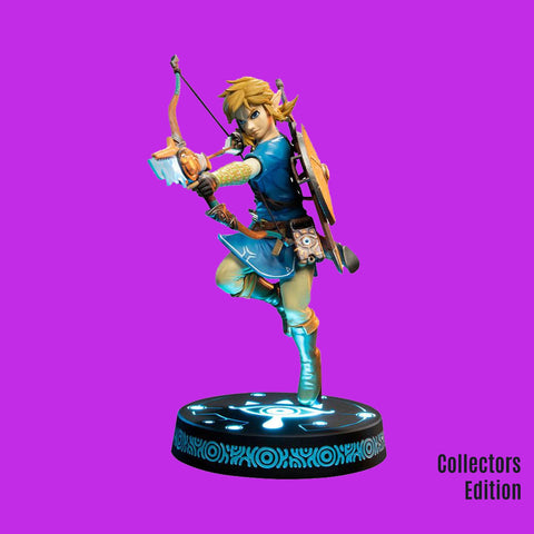 FIRST 4 FIGURES - THE LEGEND OF ZELDA - BREATH OF THE WILD PVC STATUE LINK 25CM COLLECTORS EDITION