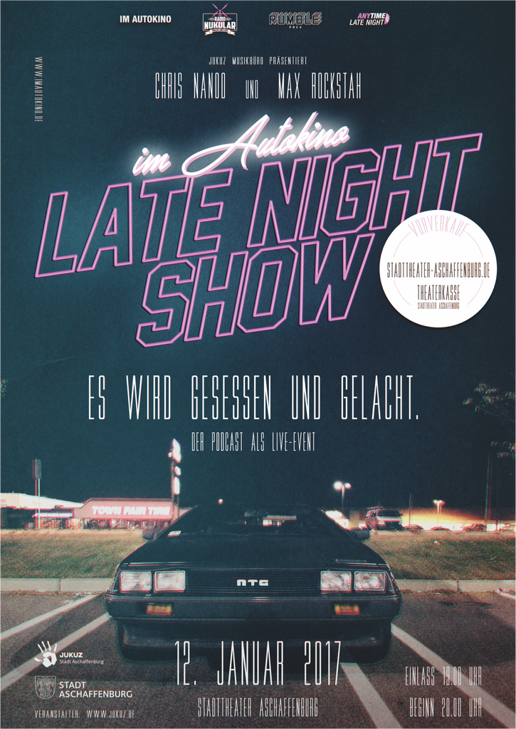 IM AUTOKINO - LATE NIGHT POSTER DIN A2