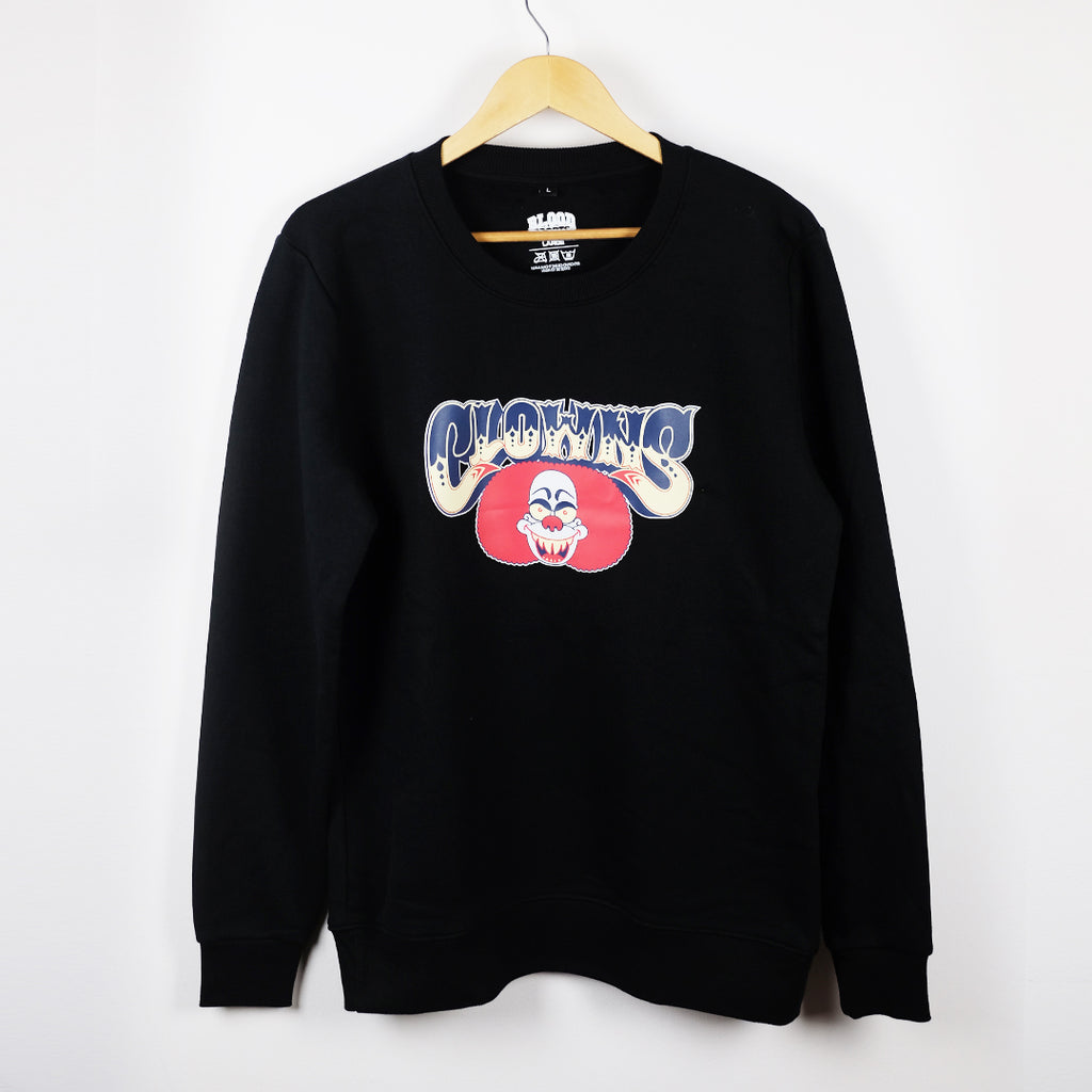 BLOOD SPORTS - DERRY CLOWNS CREWNECK BLACK