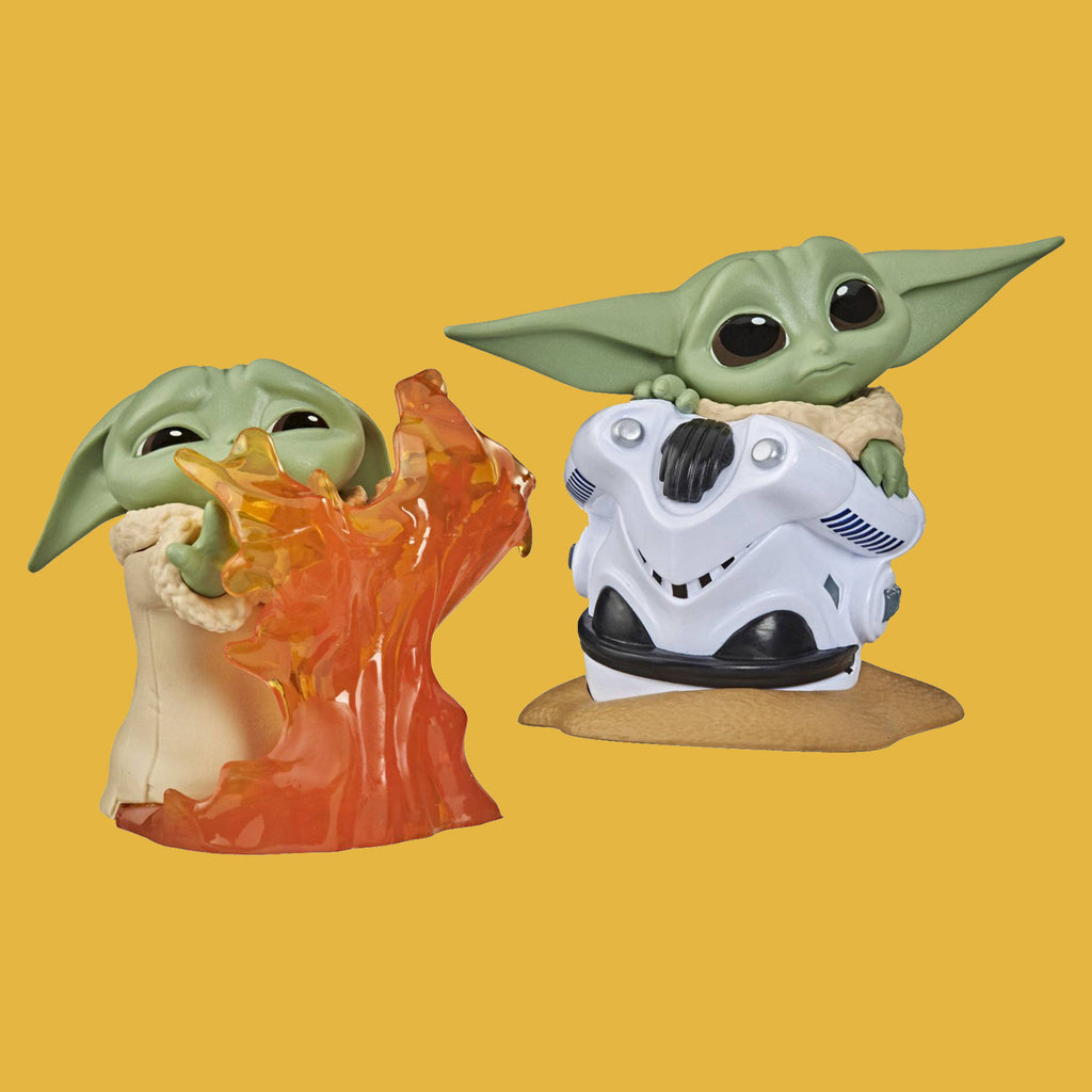 STAR WARS - MANDALORIAN BOUNTY COLLECTION WAVE 2 - 2ER-PACK THE CHILD / GROGU STOPPING FIRE & HELMET HIDING 6CM