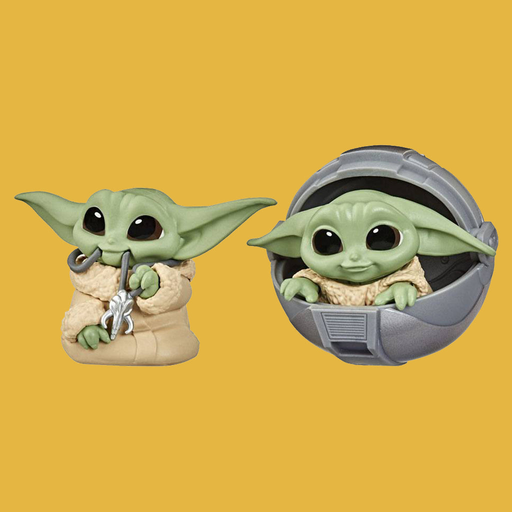 STAR WARS - MANDALORIAN BOUNTY COLLECTION WAVE 2 - 2ER-PACK THE CHILD / GROGU PRAM & NECKLACE 6CM