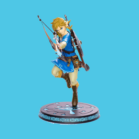 FIRST 4 FIGURES - THE LEGEND OF ZELDA - BREATH OF THE WILD PVC STATUE LINK 25CM
