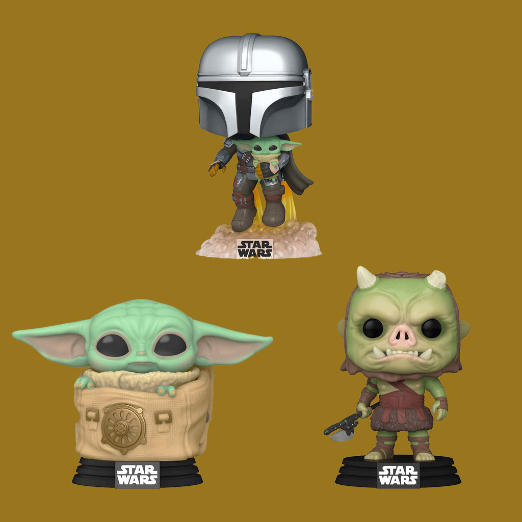 STAR WARS THE MANDALORIAN x FUNKO POP - SEASON 2 SET (MANDO, CHILD, G. FIGHTER)