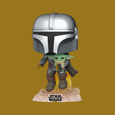 STAR WARS THE MANDALORIAN x FUNKO POP - MANDO FLYING INKL. CHILD (SEASON 2)