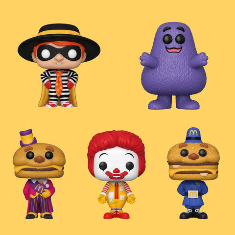 MC DONALD'S - ALLE AD ICONS VON FUNKO POP! ALS SET