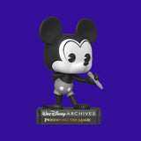 FUNKO POP - DISNEY ARCHIVES - PLANEBLACK & WHITE MICKEY (9CM)