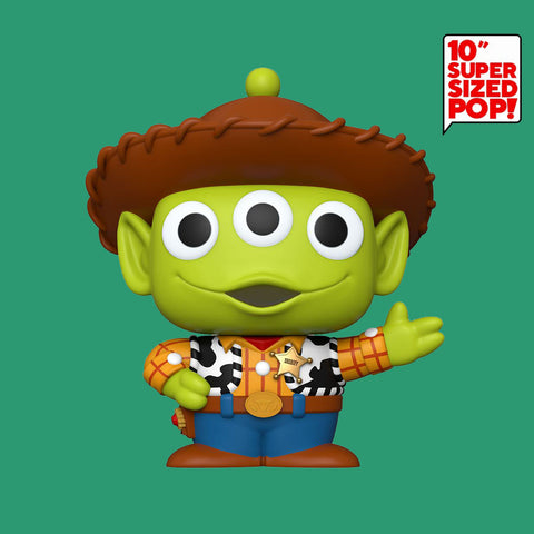 FUNKO POP - PIXAR REMIX - TOY STORY ALIEN AS WOODY (10 INCH, OVERSIZE!)