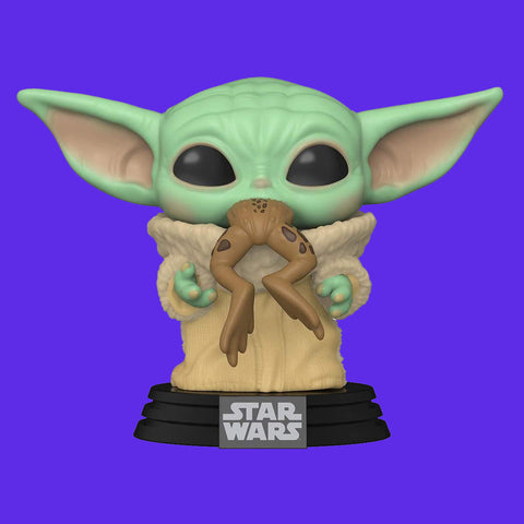 STAR WARS THE MANDALORIAN x FUNKO POP - THE CHILD / GROGU WITH FROG 9CM